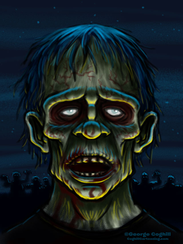 Zombie Cartoon Character Sketch By Gcoghill On Deviantart