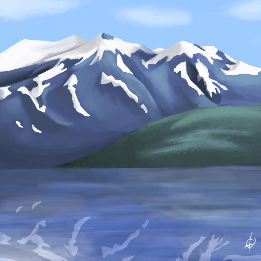 Alaskan mountains by amunition