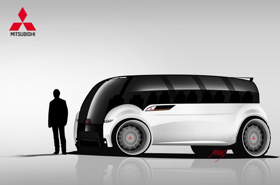 Mitsubishi Minibus Concept By Ashury On Deviantart