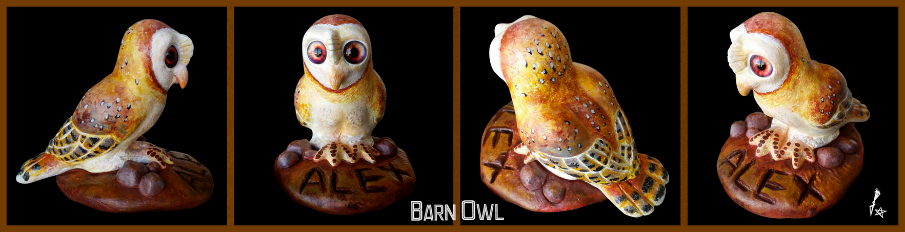A Barn Owl for Alex (Clay Sculpture)