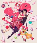 Mickey y Minnie : Valentine's Day by Maru024