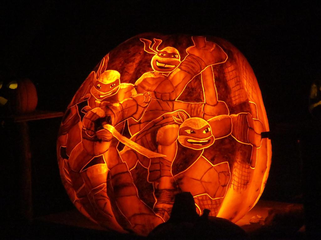 ninja turtle pumpkin stencil free