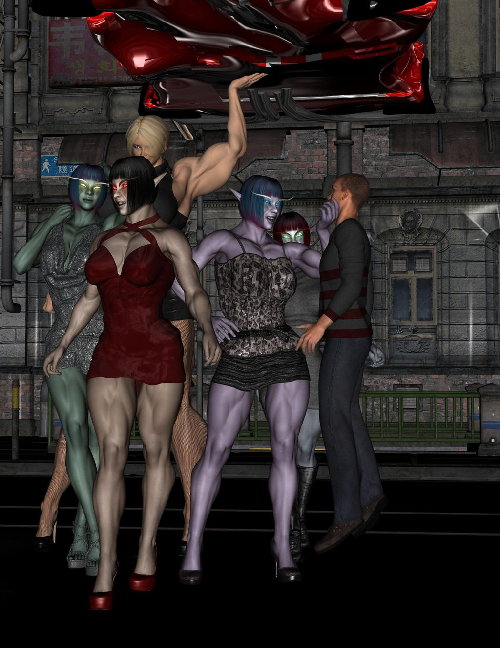 Cartyr Girls Night out on the town by ReddofNonnac on ...