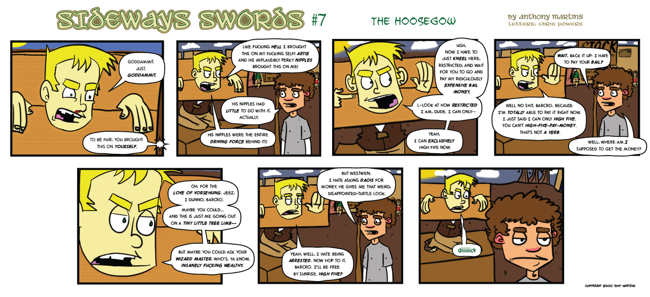 Sideways Swords - Number 7 by wizardpunk