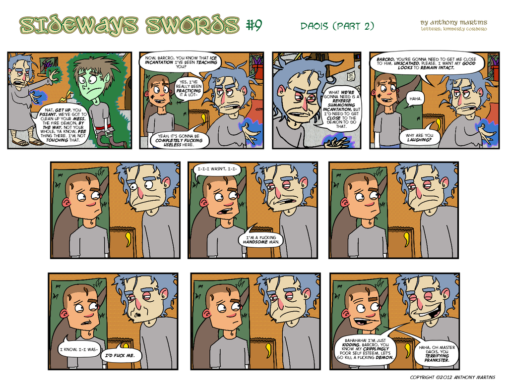 Sideways Swords - Number 9 by wizardpunk