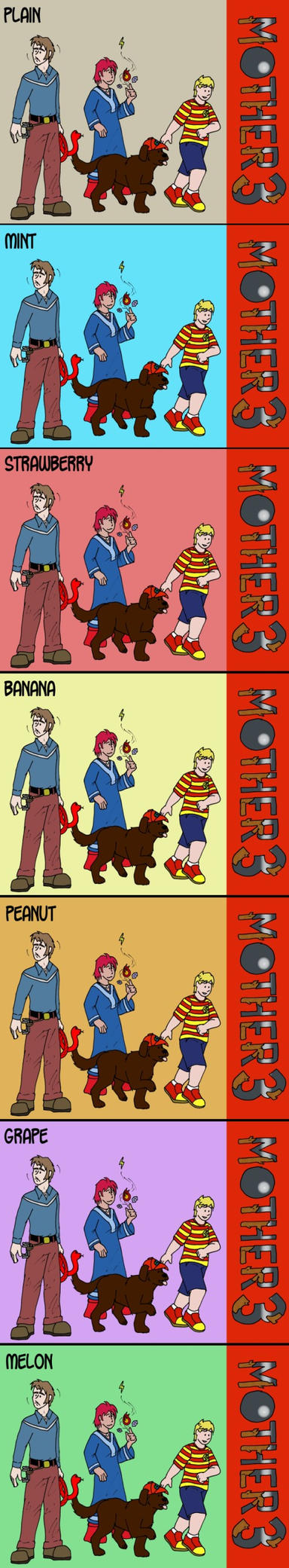 The Flavors of Mother 3 by Luprand