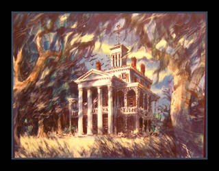 Haunted Mansion Concept Art by Lokotei