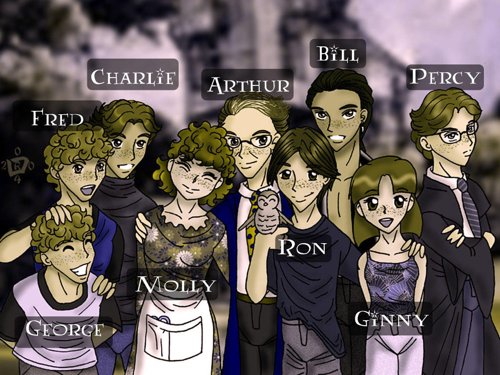 Weasley Family Portrait names by Lokotei
