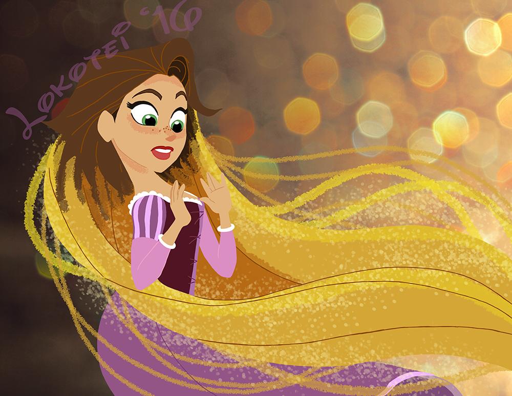 Magically Long Hair by Lokotei