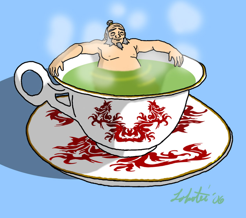 ATLA: Cup of Naked Iroh by Lokotei