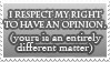 I respect my right to ........ by Exoe
