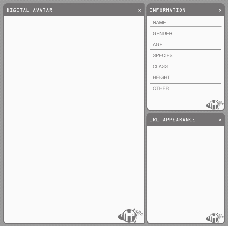 N-P: Character Sheet by Exoe