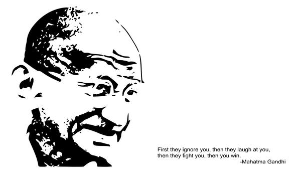 Mahatma Gandhi Silhouette 2 by dasColli
