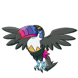 Shiny Toucannon Normal Type Collab by Braivety