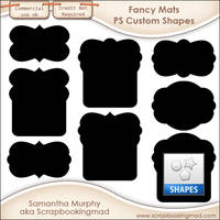 Fancy Mats Photoshop Custom Shapes .CSH by scrapbookingmad