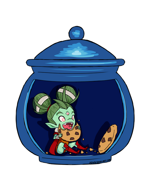 Le Flood en Images ! - Page 33 Ayla_in_the_cookie_jar_by_kaidafaye-d8mdr6z
