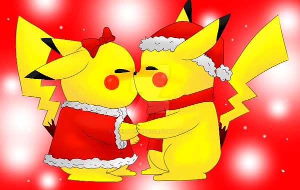 pikachu merry christmas by cielokity - Christmas Pikachu