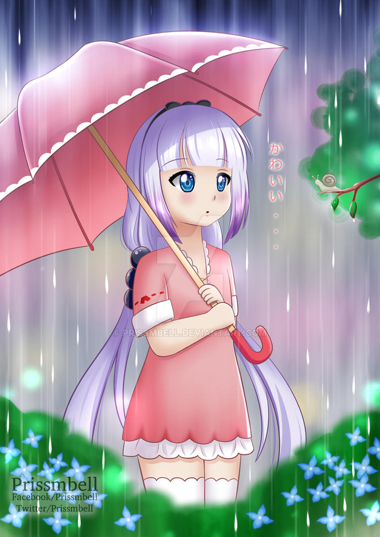 Kanna-chan in the rain by Prissmbell