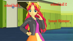 Sunset Shimmer  finished (DL Model+School)!
