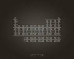 Periodic Table Denim Wallpaper in Brown by averywebdesign