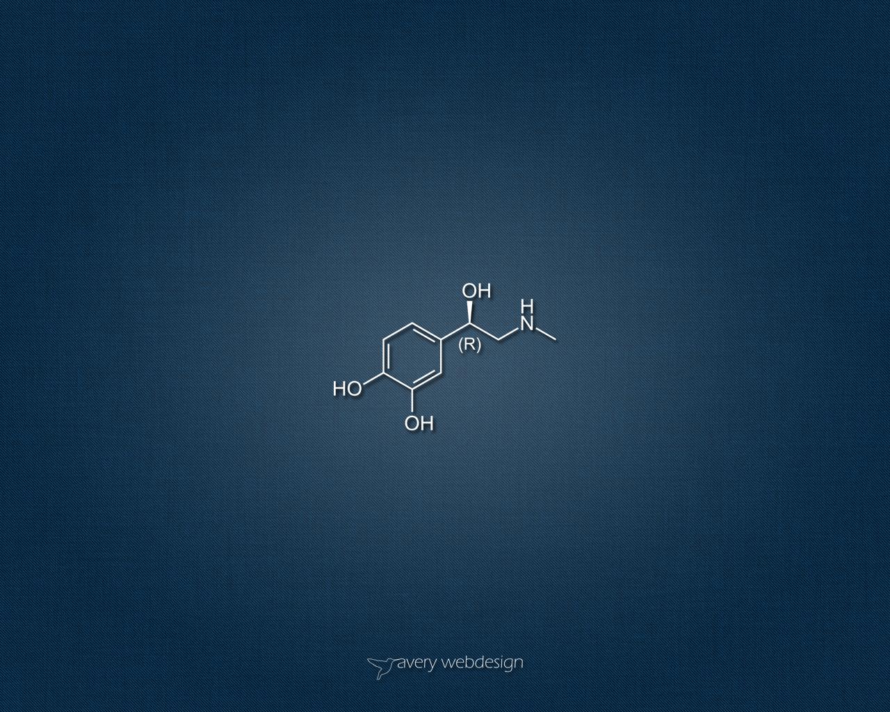 Adrenaline Molecule Denim Wallpaper in Blue