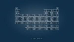 Periodic Table Denim Wallpaper in Blue