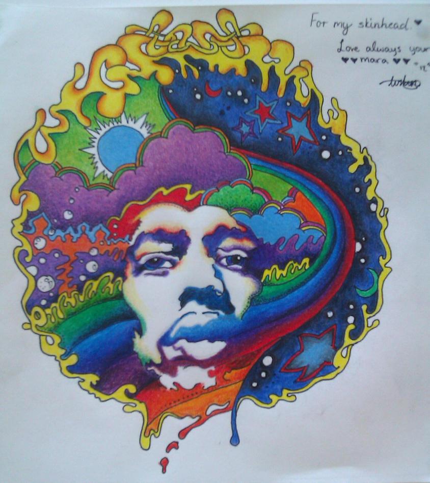 X by mara moshmellow on deviantart - Jimi hendrix wallpaper psychedelic ...