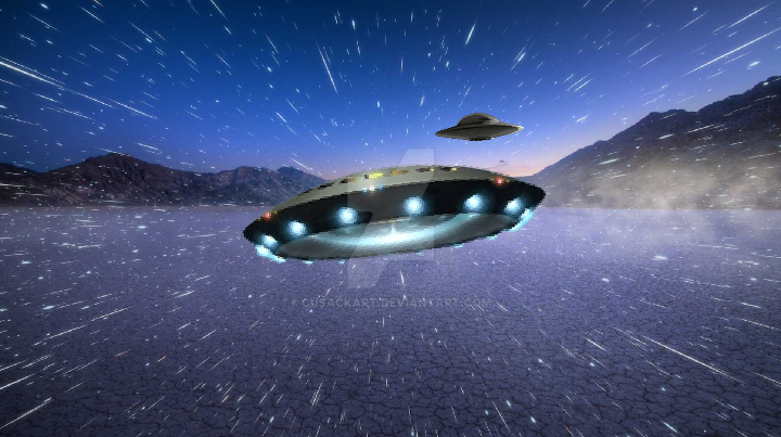 UFO chase by Cusackart