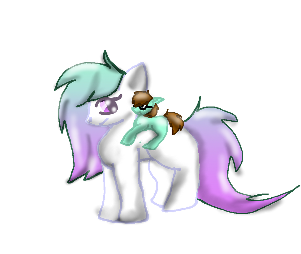 rusty the mighty and minty her horse XD by D0omy
