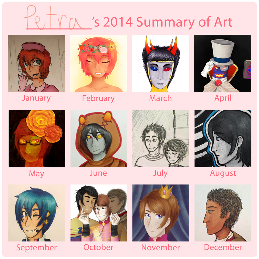 2014 art summary by ChillyWilly829