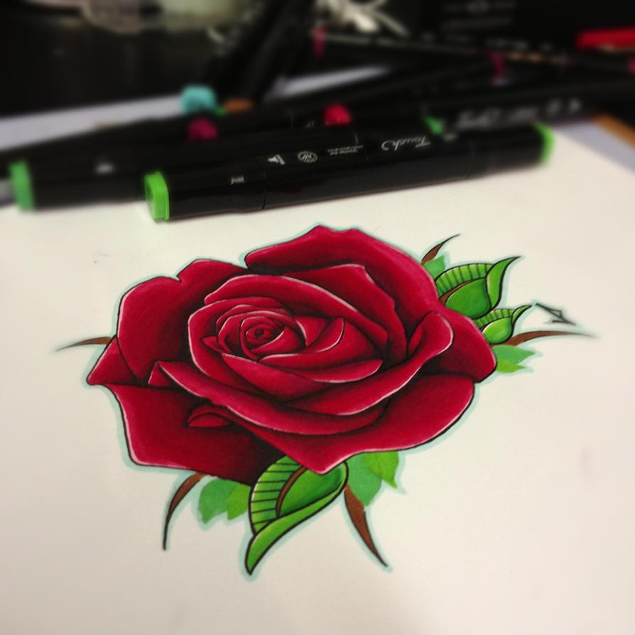 semi realistic rose tattoo design by jakeshunt on deviantart. Black Bedroom Furniture Sets. Home Design Ideas