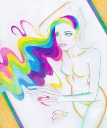 Rainbow Waves by RoseOnyxis