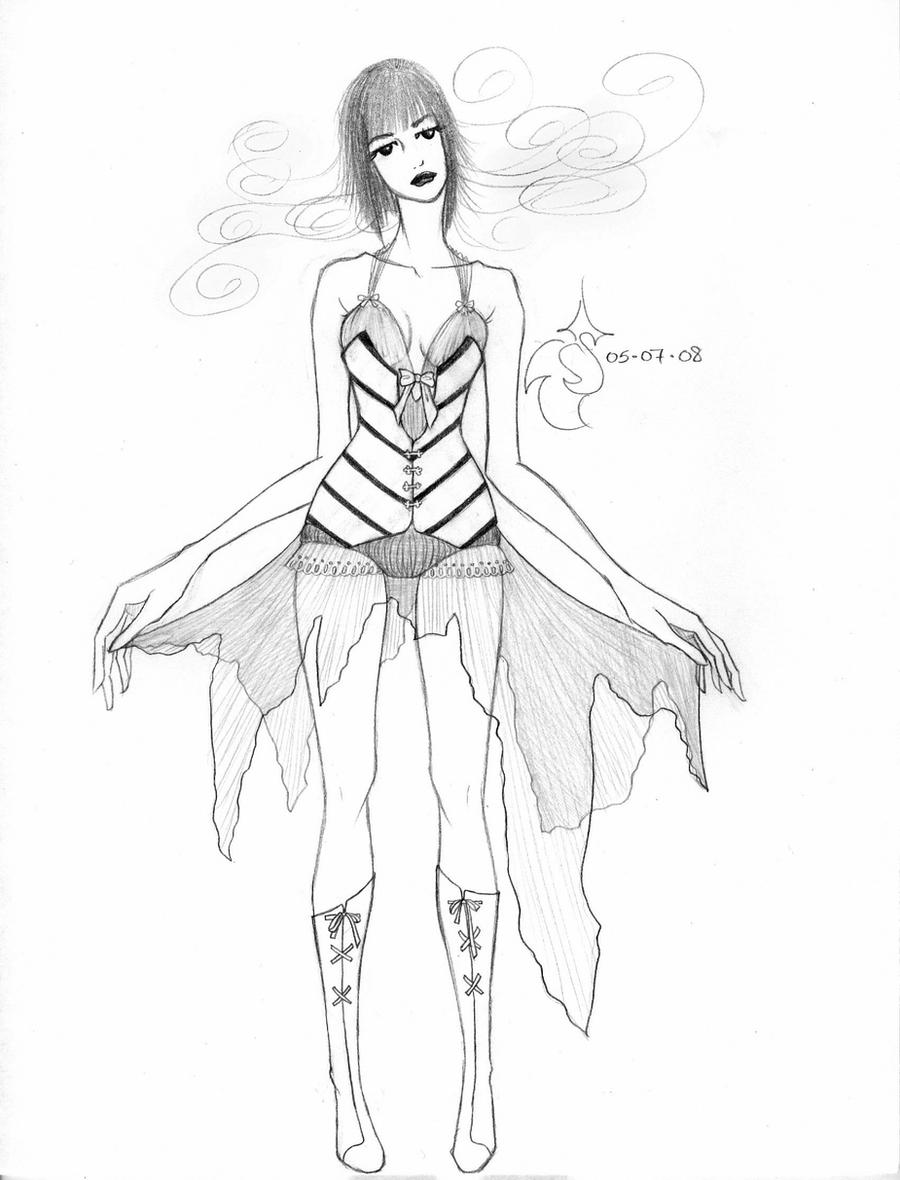 Fashion Sketch 7 by RoseOnyxis