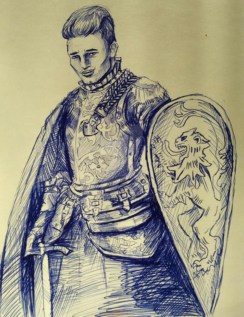 Viktor, Ambrian Knight Errant by Synefarah