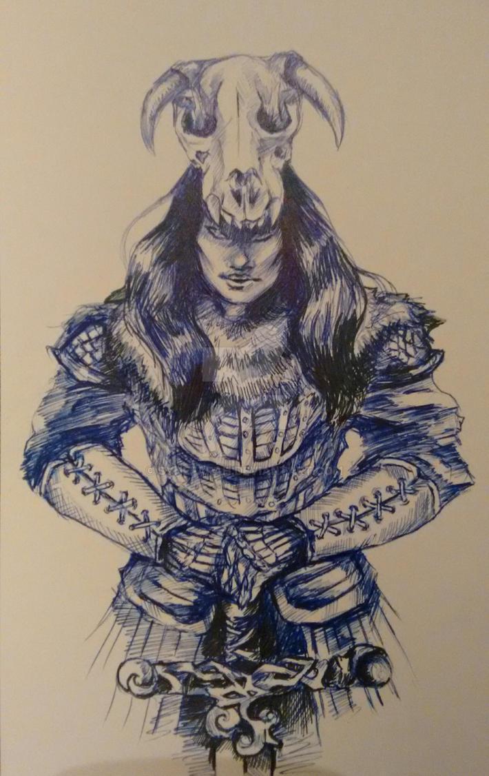Barbarian Warrior by Synefarah
