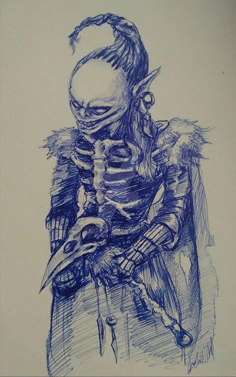 Tarqaala, Goblin Sorcerer/Archer by Synefarah