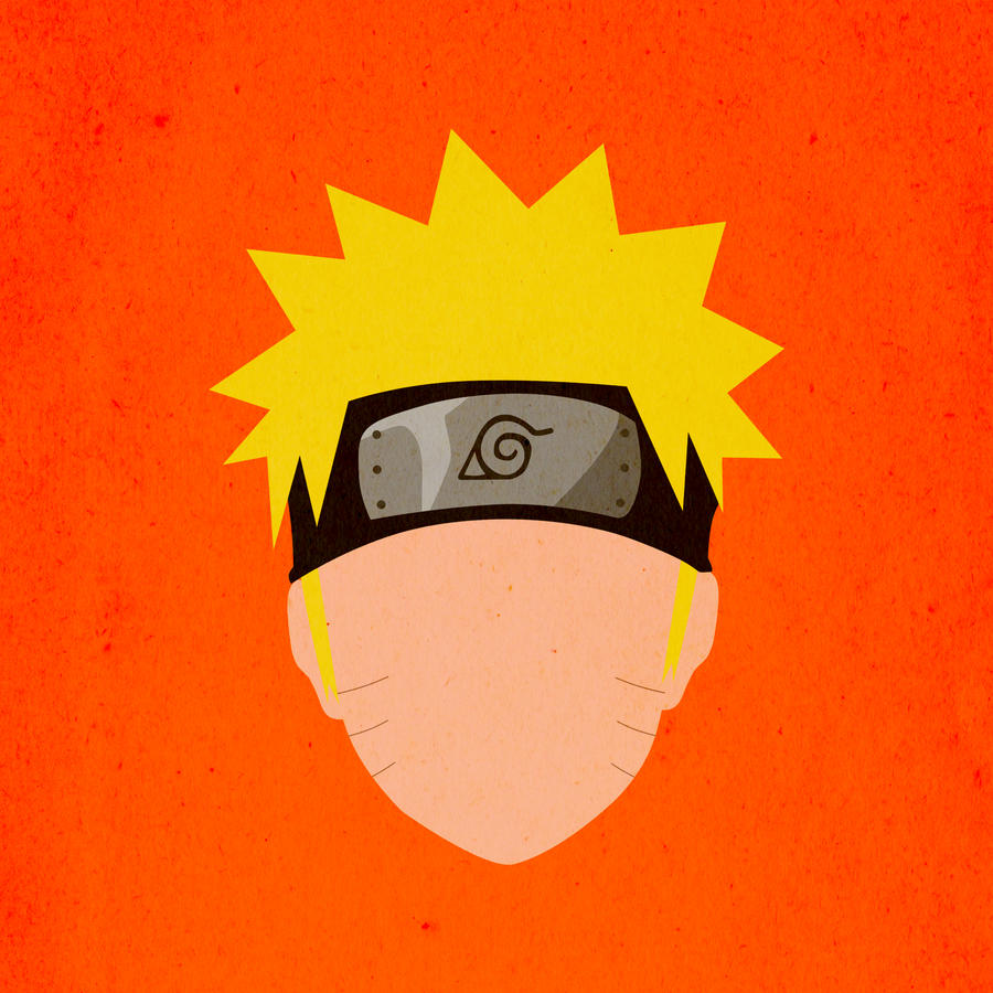 Naruto uzumaki minimal face print by definingartz on for Minimal art face