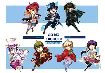 Ao no Exorcist: Keychains by flightangel