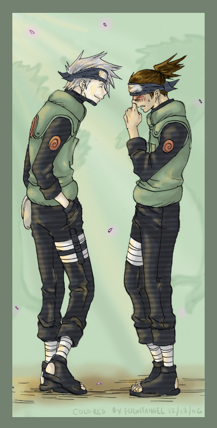Haru Urara: Kakashi and Iruka by Flightangel