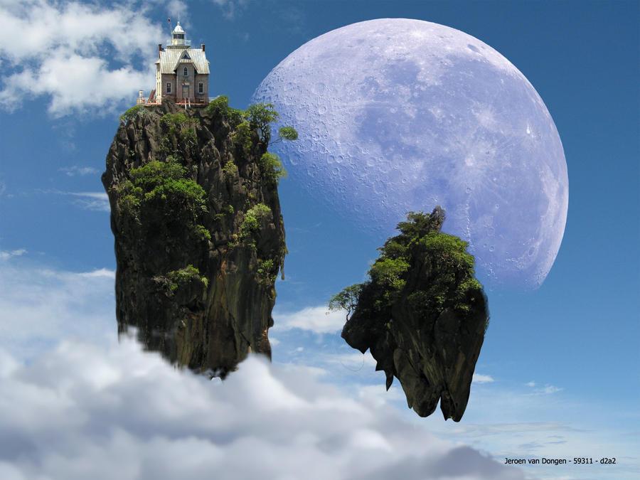 floating islands - realistic