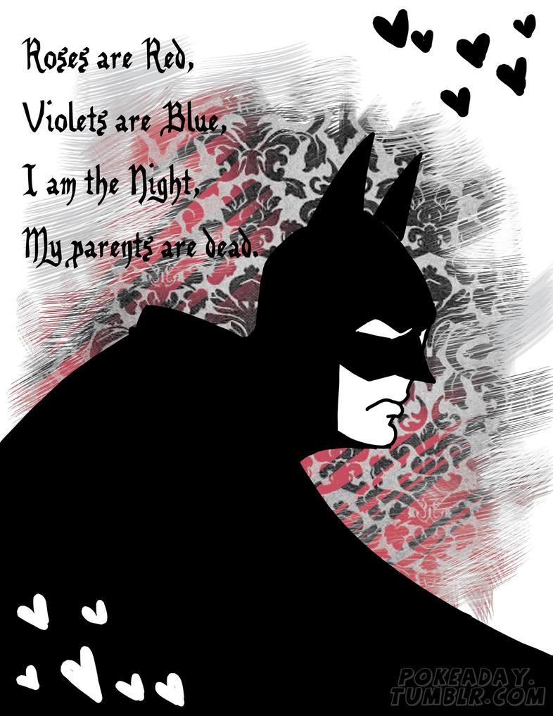 Batman Valentine by Pokeaday