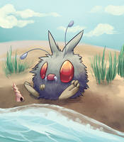 By the Shore by Pokeaday