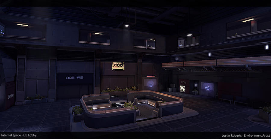 Scifi Space Hub Lobby By Justinr On Deviantart
