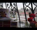 Book, Rain, Coffee
