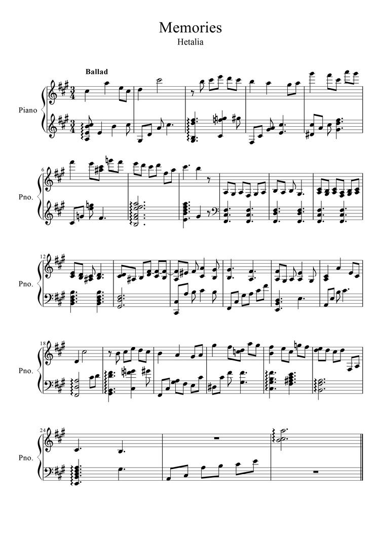Scientist piano sheet music