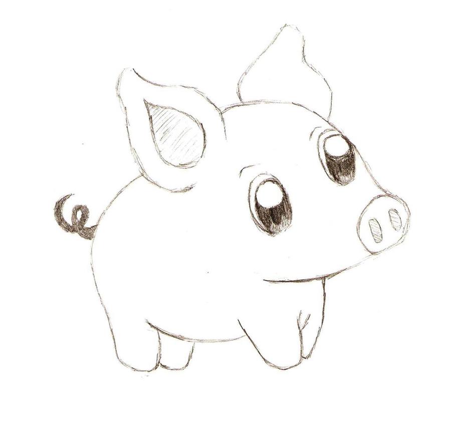 Рисунки свиньи прикольные карандашом поэтапно, открытка спб
