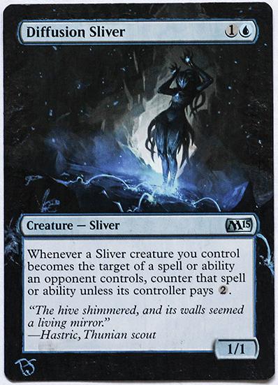 Altered Card - Diffusion Sliver by DarkPati