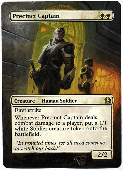 Altered Card - Precinct Captain by DarkPati
