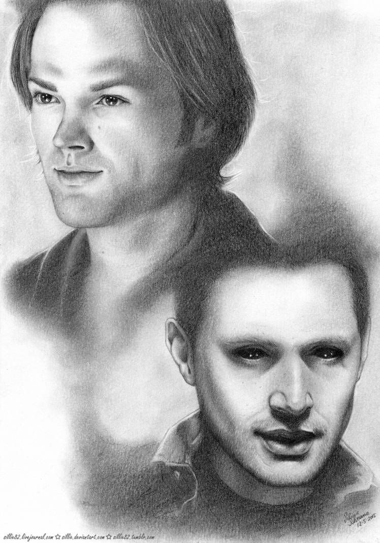 JIB6 Artproject: Soulless Sam and Demon Dean by Sillie on