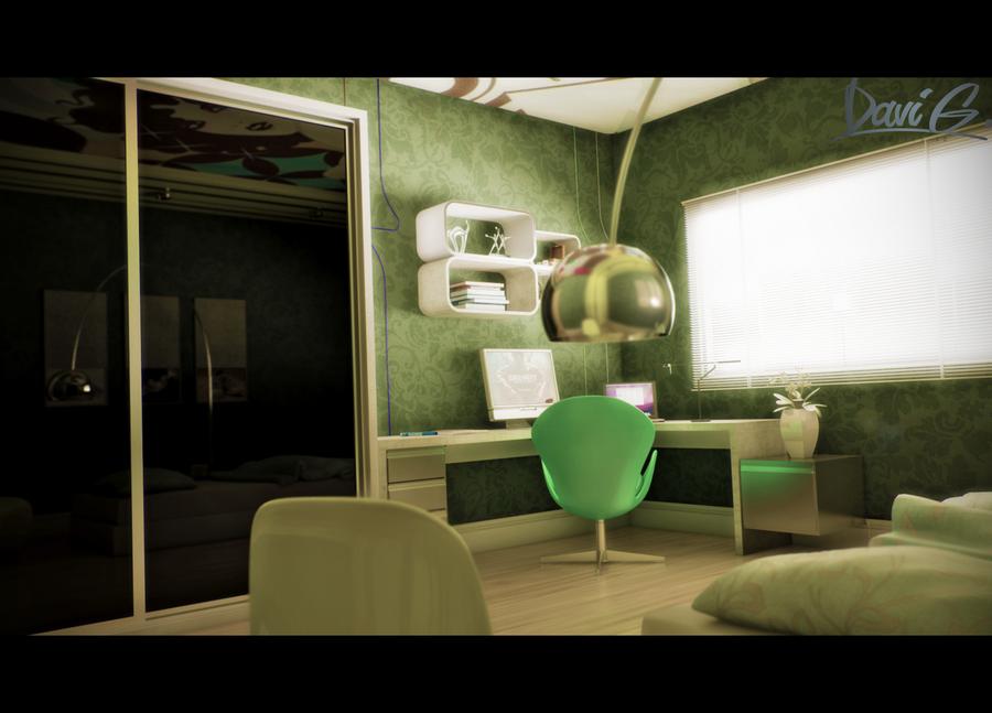 Youth Bedroom. by davibaixo